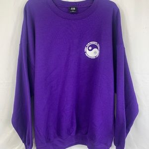 Obey Yin And Yang Pull Over Purple Sweatshirt
